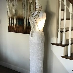 Vintage Glam Beaded Dress with 📏📐